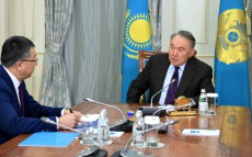 Meeting with Zhanseit Tuimebaev, the akim of South Kazakhstan