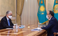 The President receives Rector of the L.N. Gumilyov Eurasian National University Erlan Sydykov