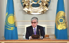 Meeting with akims of regions, cities of Nur-Sultan, Almaty and Shymkent, chaired by the President of Kazakhstan Kassym-Jomart Tokayev