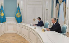 The President receives Deputy Chief of Staff of the Russian Presidential Executive Office Dmitry Kozak