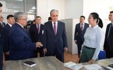 The President of Kazakhstan visits Ruhani Zhangyru regional centre