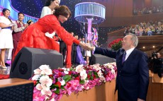 President Nursultan Nazarbayev attends concert dedicated to the International Women's Day