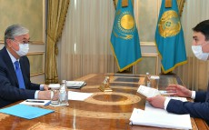 The President receives Minister of Ecology, Geology and Natural Resources Magzum Mirzagaliyev