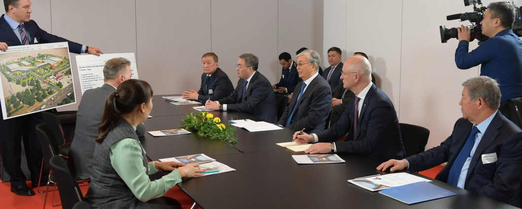 The Head of State held a number of meetings with representatives of German business