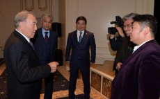 "Visiting the ""Kazakh Eli"" film exhibition"