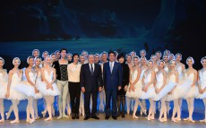 President of Kazakhstan Nursultan Nazarbayev and Prime Minister of Japan Shinzo Abe visit the sights of Astana